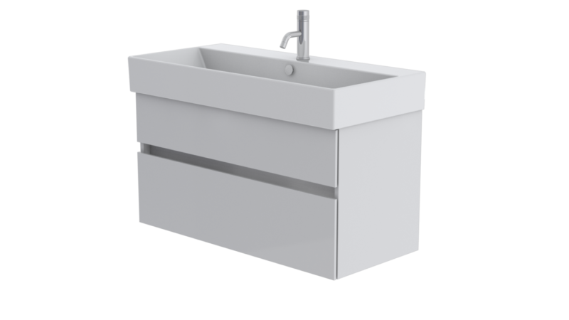 Premium 100 2 drawer unit in Signal White